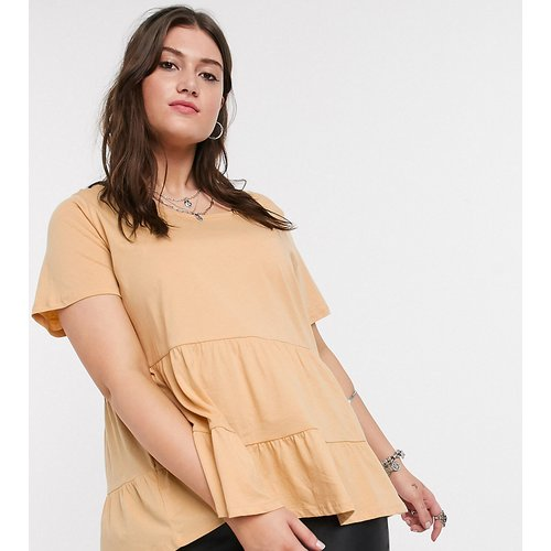 T-shirt à smocks - Sable - Only Curve - Modalova