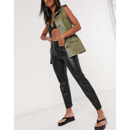 Emily - Pantalon droit en imitation cuir - Only - Modalova