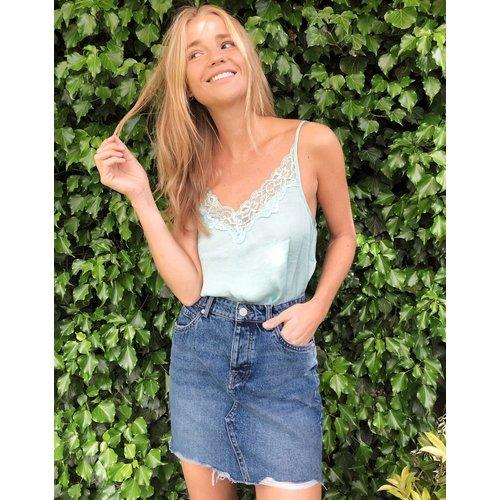 - Mini-jupe en jean effet vintage - Only - Modalova