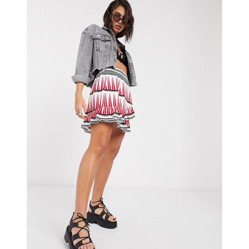 Mini-jupe portefeuille à imprimé graphique - Only - Modalova