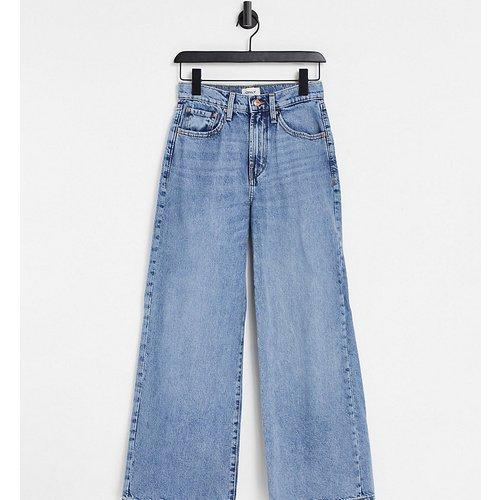 Hope - Pantalon en jean à coupe large et taille haute - clair - Only Petite - Modalova