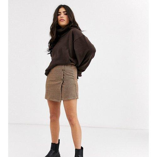 Mini-jupe à carreaux avec boutons - Only Petite - Modalova