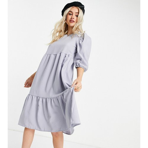 Robe babydoll mi-longue à étages - Lilas - Only Petite - Modalova