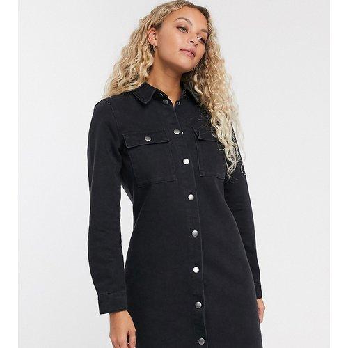 Robe chemise en jean - délavé - Only - Modalova
