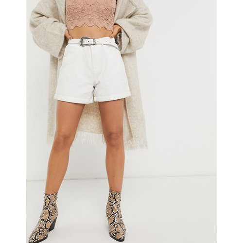 Only - Short mom en jean - Blanc - Only - Modalova
