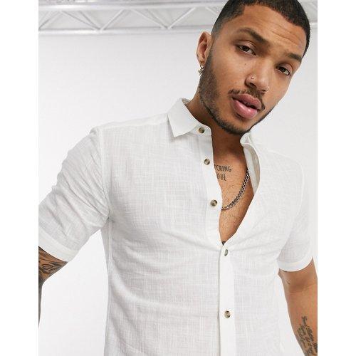 Chemise coupe slim texturée à manches courtes - Only & Sons - Modalova