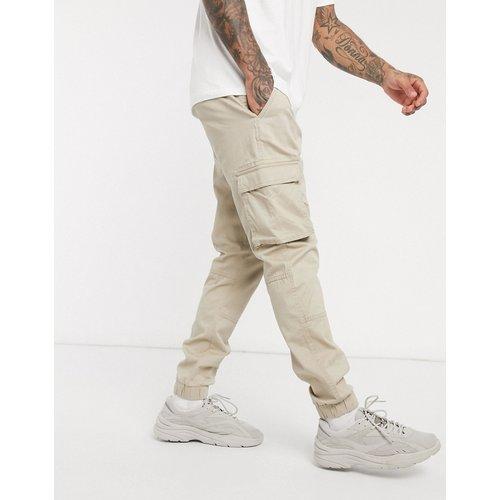 Pantalon cargo coupe slim avec ourlets resserrés - Sable - Only & Sons - Modalova