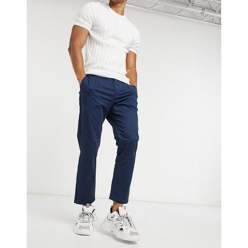 Pantalon chinocourt coupe slim - Bleu marine - Only & Sons - Modalova