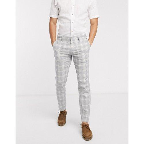 Pantalon slim fuselé habillé à carreaux - Only & Sons - Modalova