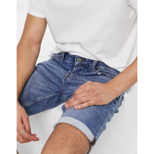 Short en jean molletonné stretch - clair - Only & Sons - Modalova