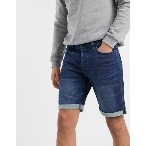 Short en jean molletonné stretch - foncé - Only & Sons - Modalova