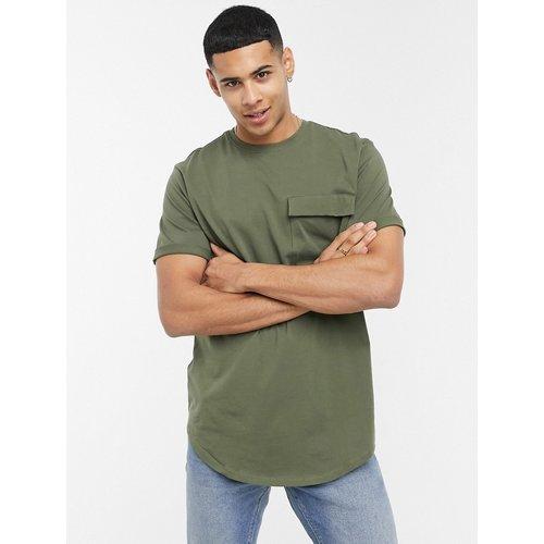 T-shirt long avec poche - Kaki - Only & Sons - Modalova