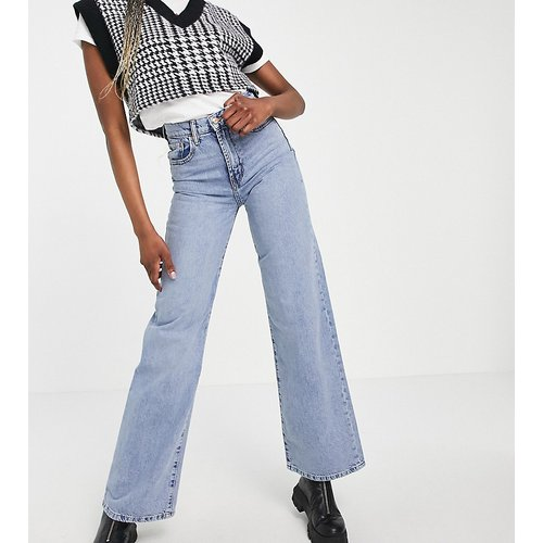 Hope - Pantalon en jean à jambe large et taille haute - clair - Only Tall - Modalova