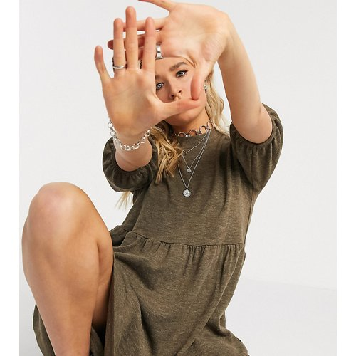 Robe mi-longue en maille à manches bouffantes - Only Tall - Modalova