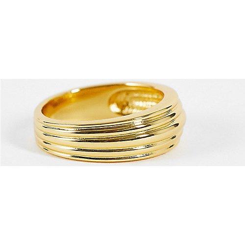 Bague à effet strié en plaqué or - Orelia - Modalova