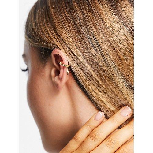 Bijou d'oreille en plaqué or avec breloque éclair - Orelia - Modalova
