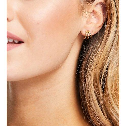 Boucles d'oreilles en plaqué or à trois barrettes - Orelia - Modalova
