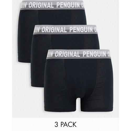 Lot de 5 boxers unis - et gris - Original Penguin - Modalova