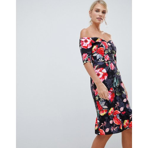 Robe à fleurs style Bardot - Paper Dolls - Modalova