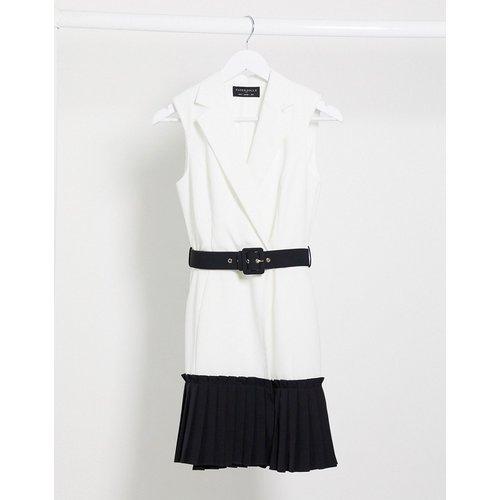 Robe portefeuille color block avec ceinture - Monochrome - Paper Dolls - Modalova