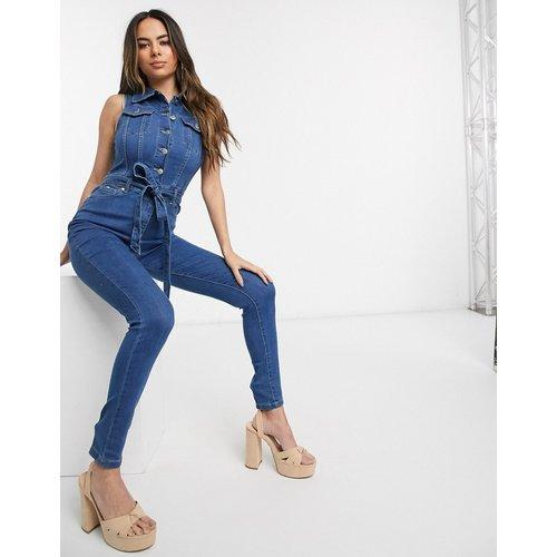 Combinaison en jean avec ceinture à nouer - Parisian - Modalova