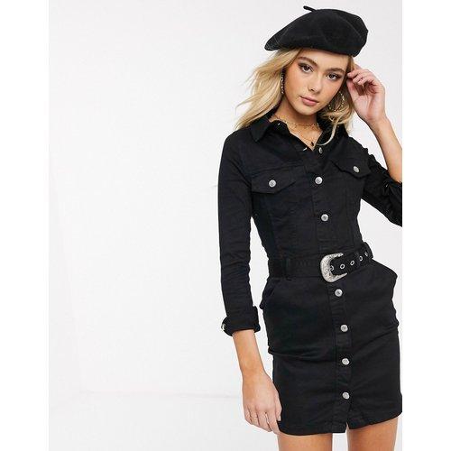 Robe chemise en jean avec ceinture western - Parisian - Modalova