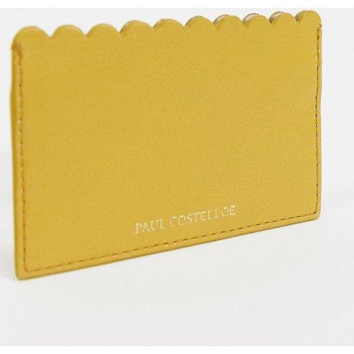 Porte-carte à bordure festonnée en cuir - Moutarde - Paul Costelloe - Modalova