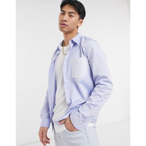 Chemise manches longues ajustée avec poche contrastante - clair - Paul Smith - Modalova