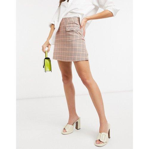 Mini-jupe en coton biologique à carreaux pied-de-poule - People Tree - Modalova