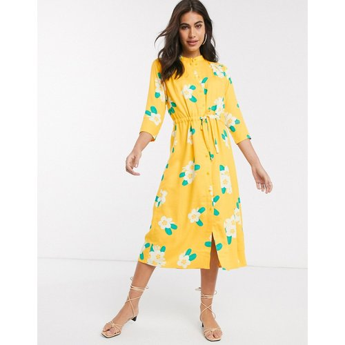 Robe mi-longue à fleurs - People Tree - Modalova