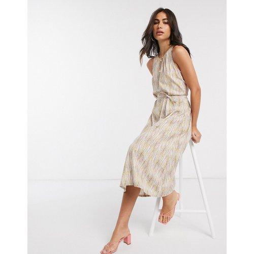 - Robe mi-longue avec ceinture nouée à la taille et imprimé abstrait - People Tree - Modalova
