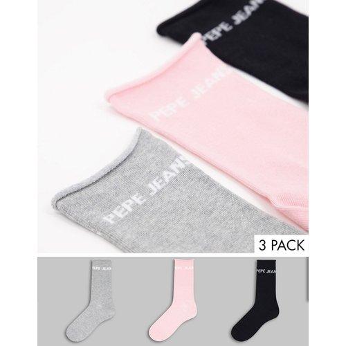 Adelle - Lot de 3 paires de chaussettes - rose gris - Pepe Jeans - Modalova