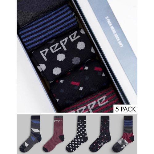 Elon - Lot de 5 paires de chaussettes - Pepe Jeans - Modalova