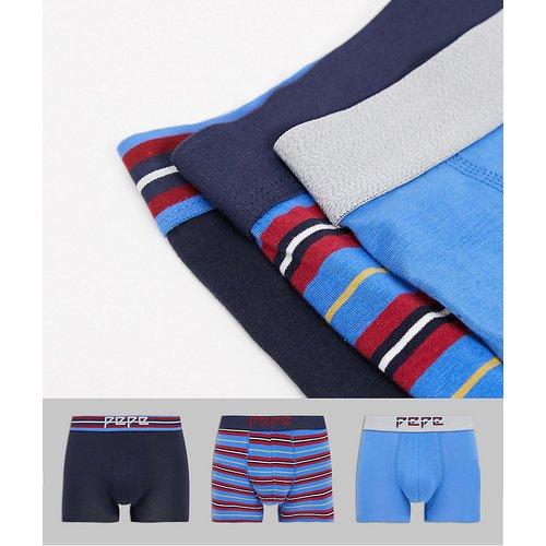 Faxton - Lot de 3boxers - Rayures variées - Pepe Jeans - Modalova