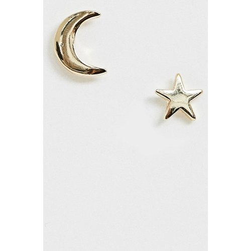Boucles d'oreilles lune et étoile - Pieces - Modalova