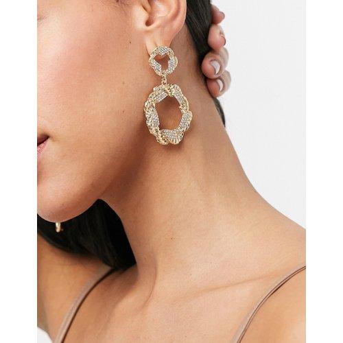 Boucles d'oreilles tendance torsadées à strass - Pieces - Modalova