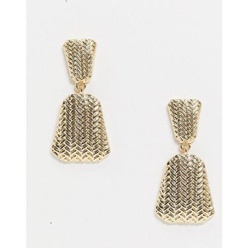 - Boucles d'oreilles texturéesstyle pendants - Pieces - Modalova