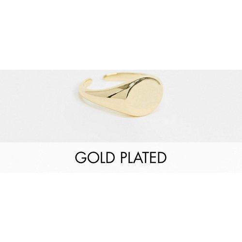 Chevalière en plaqué or 18 carats - Or - Pieces - Modalova