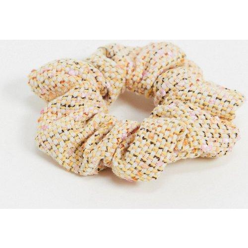 Chouchou en bouclette - Crème pâle et rose - Pieces - Modalova