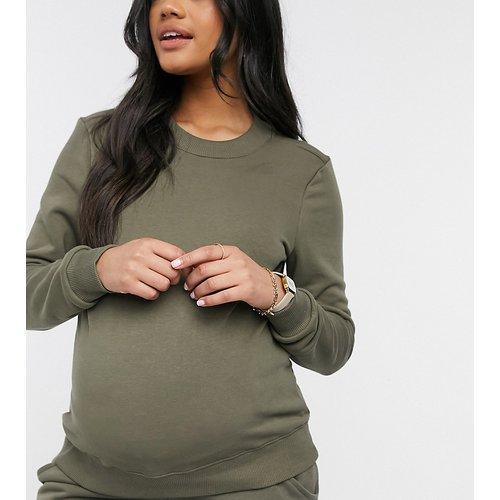 Pieces Maternité - Sweat-shirt d'ensemble - Kaki - Pieces Maternity - Modalova