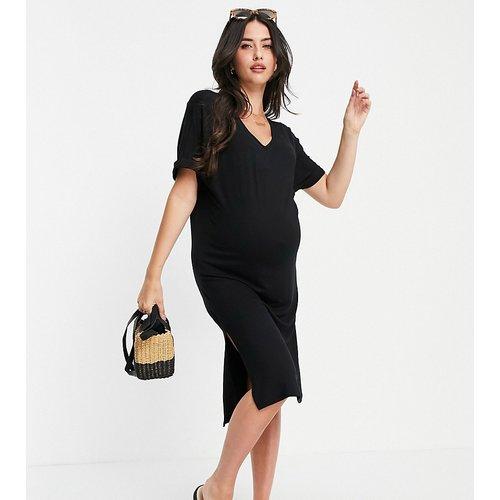 Robe t-shirt mi-longue à col V - Pieces Maternity - Modalova