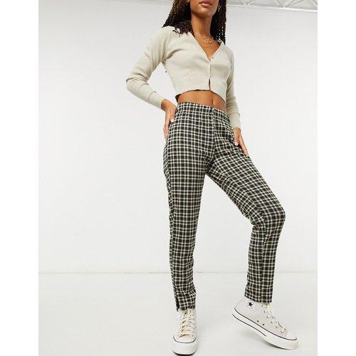 Pantalon droit - Carreaux noirs - Pieces - Modalova