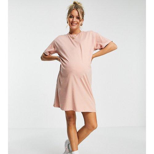 Pieces - Robe t-shirt courte de maternité - Pieces Maternity - Modalova