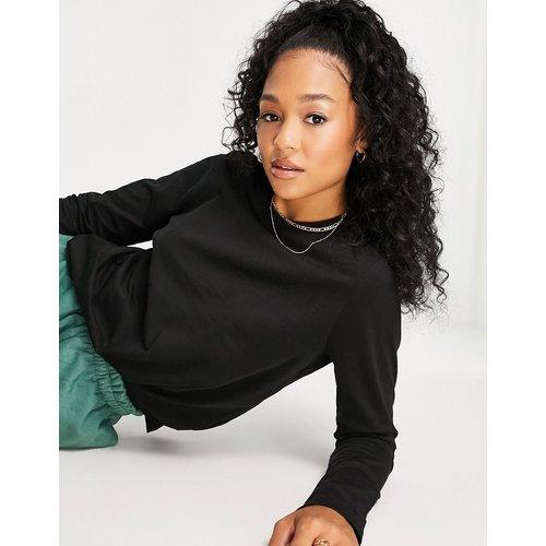 T-shirt manches longues en coton biologique - Pieces - Modalova