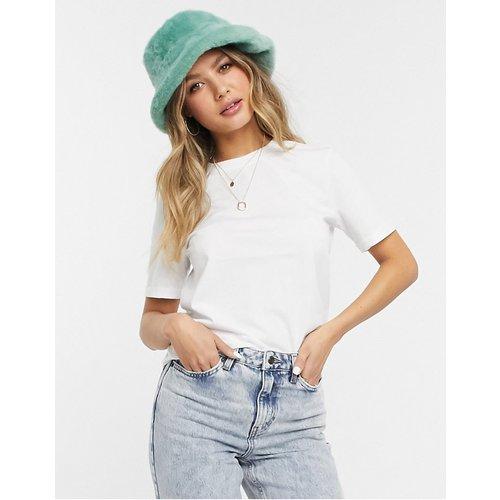 T-shirt ras de cou en coton - Pieces - Modalova