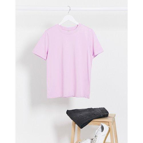 T-shirt ras de cou - Lilas - Pieces - Modalova