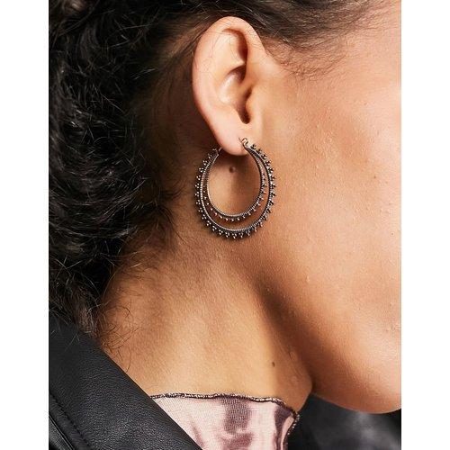 Joy - Boucles d'oreilles en plaqué or rose - Pilgrim - Modalova