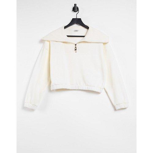 Sweat-shirt à demi-fermeture éclair - Beige - Pimkie - Modalova