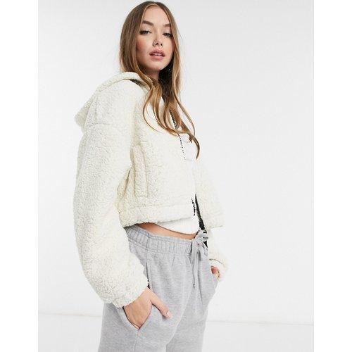 Veste zippée en polaire et imitation peau de mouton - Crème - Pimkie - Modalova