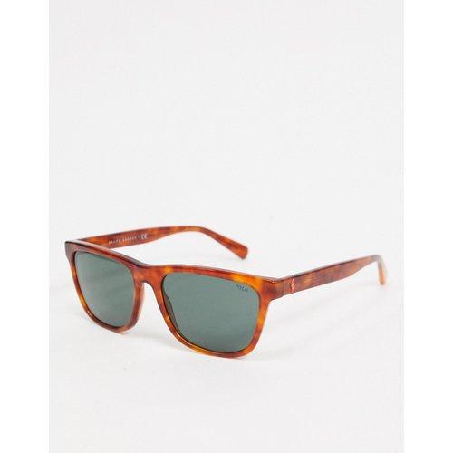 PH4167 - Lunettes de soleil carrées - Écaille de tortue - Polo Ralph Lauren - Modalova